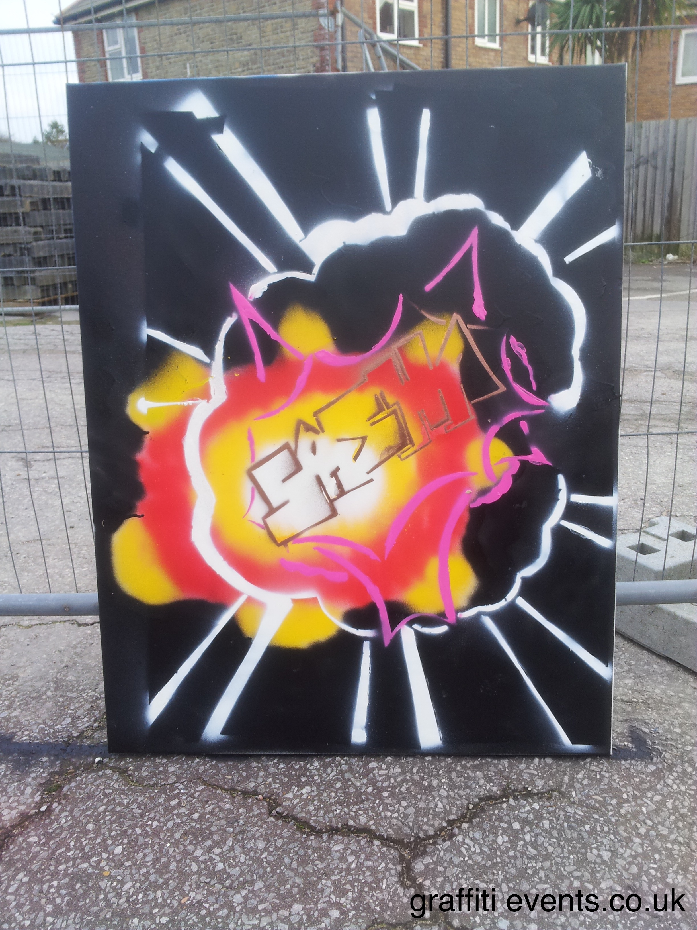 Graffiti Workshop at Budmouth College, Weymouth